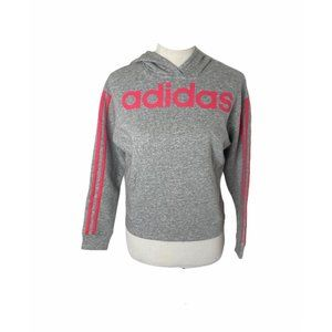 NWT girls adidas rs grey and pink hoodie